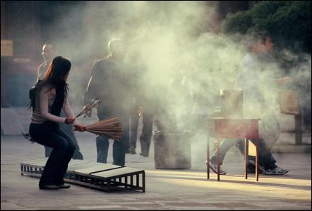 שיפת קטורת במקדש הלאמה