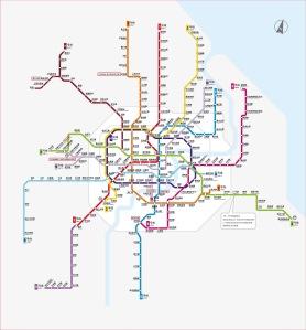 מפת המטרו של שנגחאי