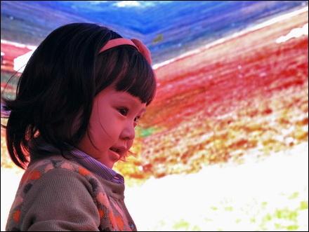 ילדה בביתן של מחוז שינג'יאנג
